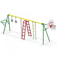 Спортивный комплекс, гимнастические кольца, лестница гимнастическая, щит баскетбольный