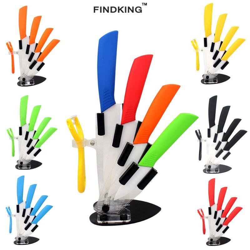 Керамические ножи на подставке 4шт.+овощечистка