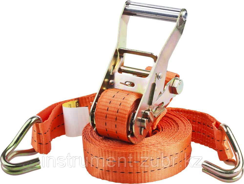 """Ремень STAYER """"PROFESSIONAL"""" для крепления груза, ширина ленты 35мм, нагрузка до 2000кг, длина 8м"""