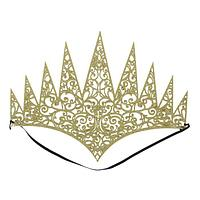 """Корона """"Королева"""" на резинке, цвет золото"""
