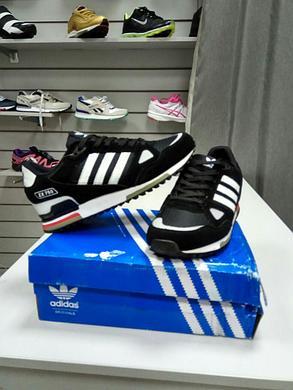 Кроссовки Adidas ZX 750 черный с белым, фото 2