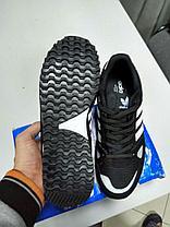 Кроссовки Adidas ZX 750 черный с белым, фото 3