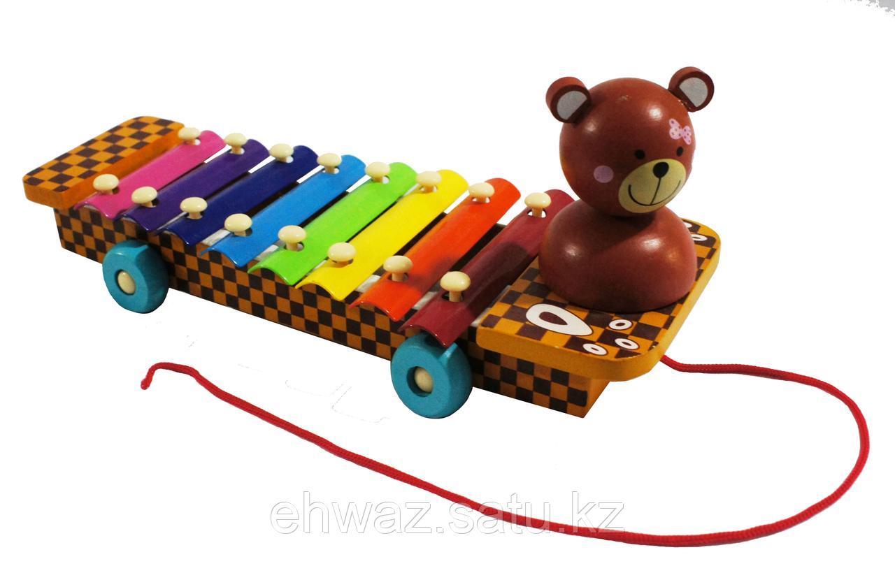 Ксилофон 8 тонов на колесиках