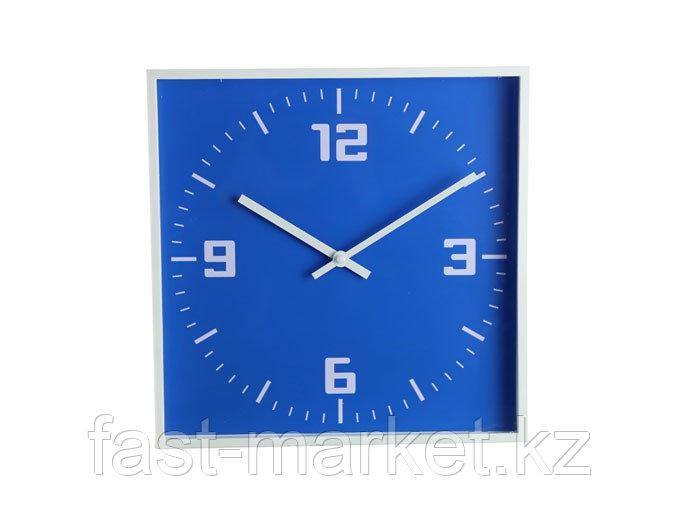 Настенные часы синие квадратные