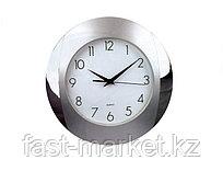 Настенные часы серые пластиковые