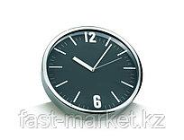 Настенные часы черные алюминиевые