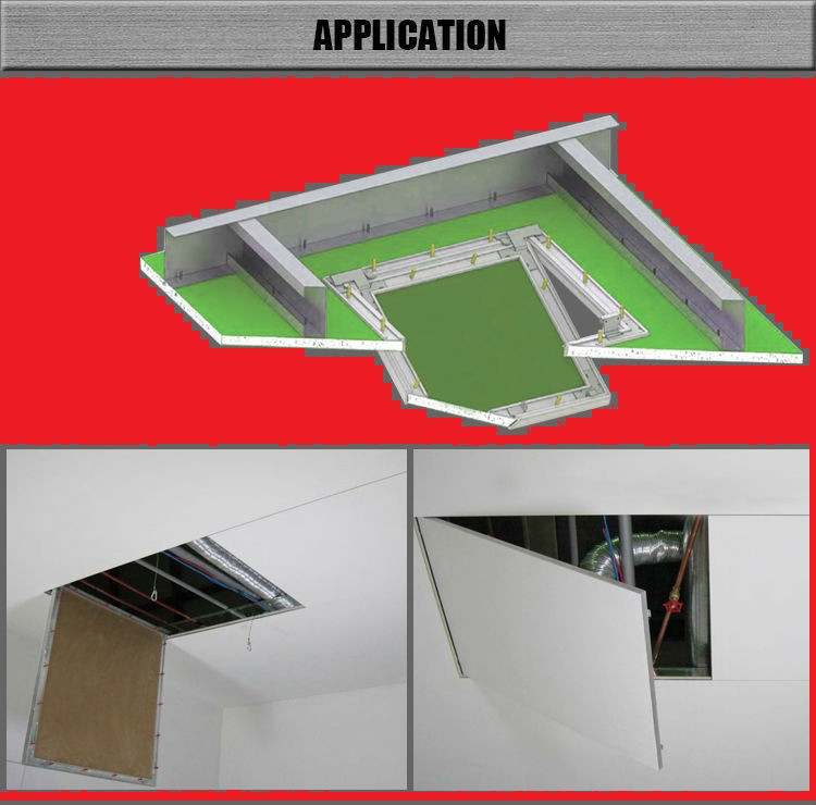 Люк-дверца ревизионная алюминиевая (под покраску) 200х200