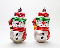 Ёлочные игрушки, 2 маленьких снеговика