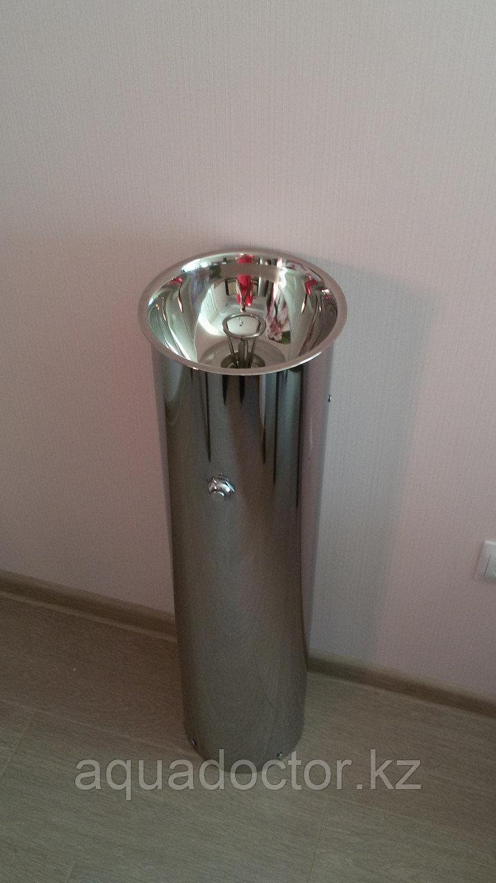 Фонтан питьевой цилиндрический кнопка с боку ФП-600