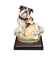 Скульптура Бульдог и чихуахуа. Ручная работа. Джузеппе Армани. Италия