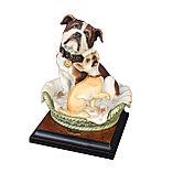 Скульптура Бульдог и чихуахуа. Ручная работа. Джузеппе Армани. Италия, фото 2