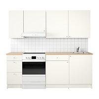Кухня КНОКСХУЛЬТ белый 220x61x220 см ИКЕА, IKEA