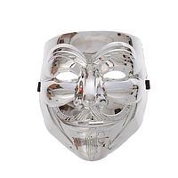 """Карнавальная маска пластик """"Гай Фокс"""", цвет серебро"""