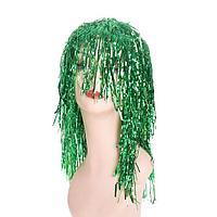 """Карнавальный парик """"Дождик"""" 45 см, цвет зеленый"""