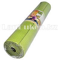 Коврик для йоги и фитнеса (йогамат) 5 мм двухсторонний зеленый