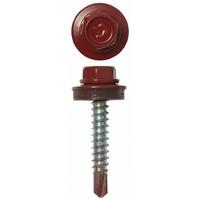 Саморез 4,8*70 ш/гр. кровельный красно-коричневый RАL8017