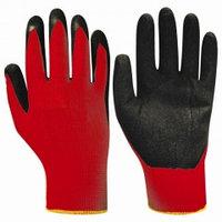 Перчатки НейпЛат (нейлон+латекс, красный с черным)