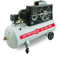 Компрессор воздушный масляный с ременным приводом Интерскол КВ-500/100, мощ 3 кВт, раб. давление 10 бар