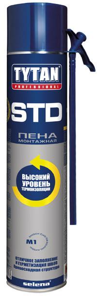 Пена монтажная бытовая STD 750 мл O2  TYTAN