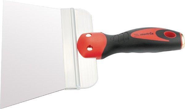 Шпатель 200 мм фасадный из нержавеющей стали,  узкое полотно, 2-комп. ручка// МАТRIХ