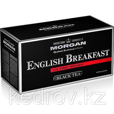 """""""MORGAN"""" чай черный байховый """"Английский завтрак"""" в пакетиках 2гр*25пак, высший сорт"""