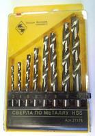 """Набор сверл по металлу 3-4-5-6-7-8-9-10 мм (8 шт) """"ЭНКОР"""""""