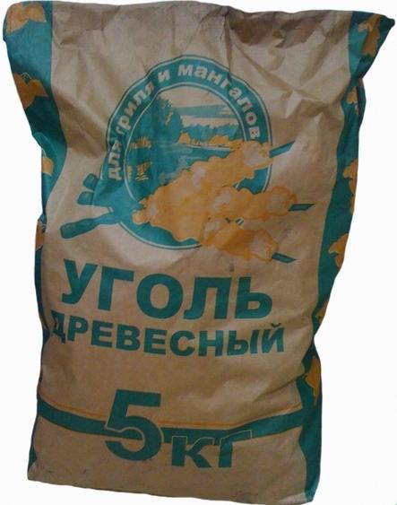 Уголь древесный 5,0 кг