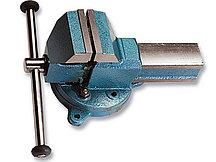 Тиски 125 мм слесарные, поворотные с наковальней SPARTA