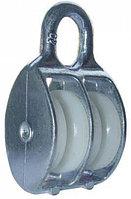 Блок D-40 мм двойной пластик оцинкованный