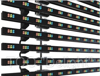 Медиафасад - пиксельные линейки