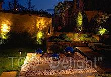 Установка светильников для сада