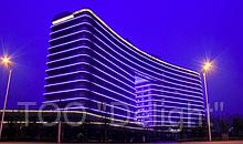 Подсветка гостиницы