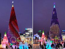 Новогодняя елка подсветка