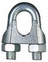 Зажим D-5 мм для стальных канатов DIN 741