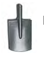 Лопата штыковая рельсовая сталь прямоугольная