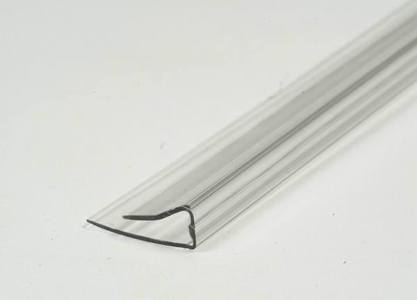 Профиль торцевой PU 4 мм L=2,1 м бесцветный