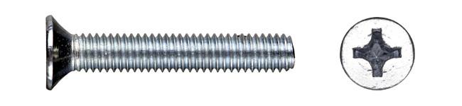 Винт М3*20 потай с метрической резьбой DIN965