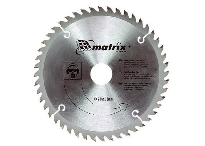 Диск 190*30 пильный по дереву 48 зубьев MATRIX