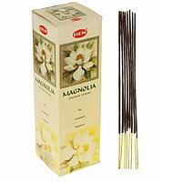 """Благовония """"HEM"""" 8 палочек угольные magnolia"""