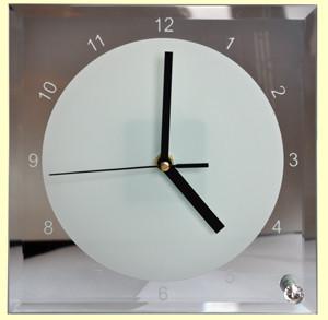 Часы настенные стеклянные Texture 30см