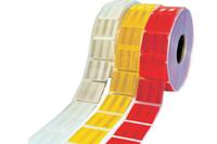 Светоотражающая лента 3M 957 для маркировки тентов - желтая и красная сегментированная