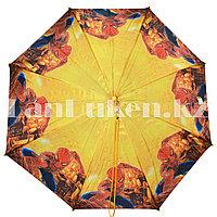 Зонт детский Человек Паук трость желтый