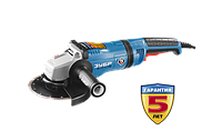 Углошлифовальная машина (болгарка), ЗУБР Профессионал УШМ-П180-2100 ПВ, плавный пуск, антивибрационная защита, 180 мм, 8000 об/мин, 2100Вт