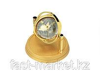 Настольные часы с фоторамкой золотистые