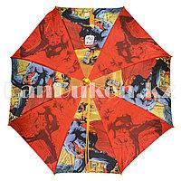 Зонт-трость детский красный Супермэн (класс 2)