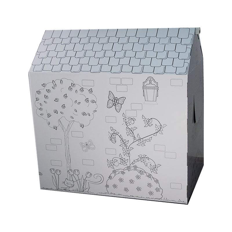Игровой домик раскраска