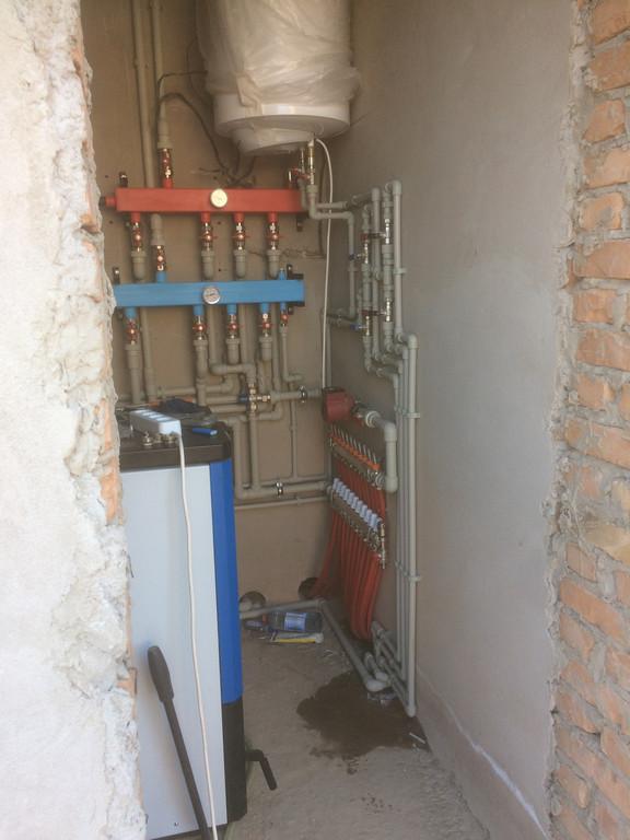 """Монтаж системы отопления водоснабжения и канализации дом 250м2  """"под ключ"""" п.ГРЭСС"""