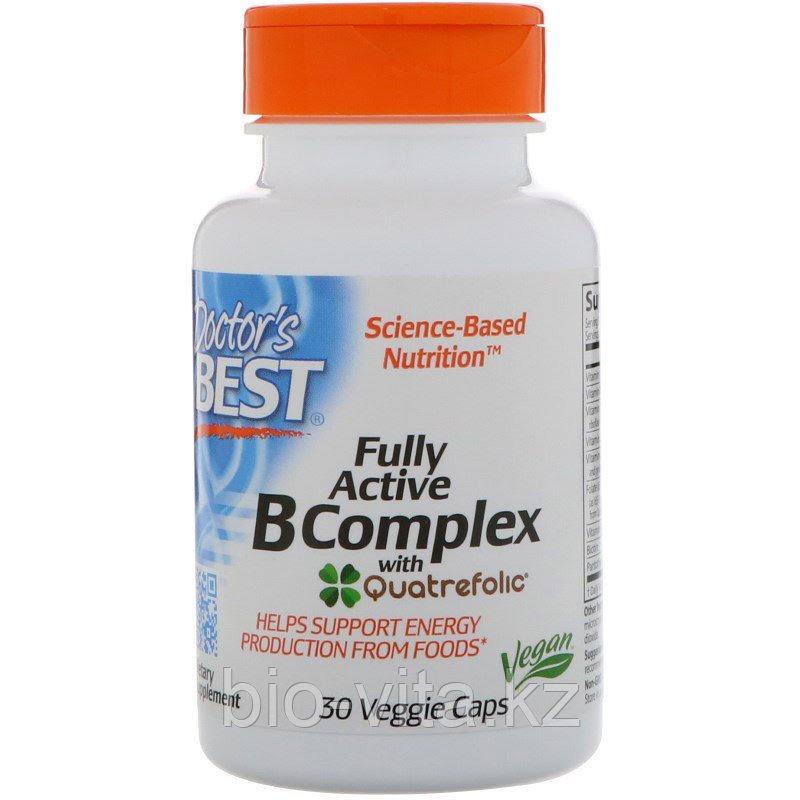 Doctor's Best, Высоко активный комплекс витаминов группы B, 30 капсул в растительной оболочке.