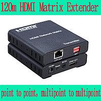 Матричный удлинитель линии HDMI  до 120 метров по одному кабелю UTP, FTP
