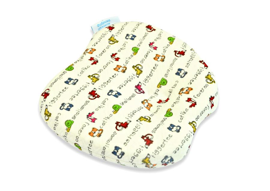 Подушка для новорожденных «Бабочка» со съемным чехлом
